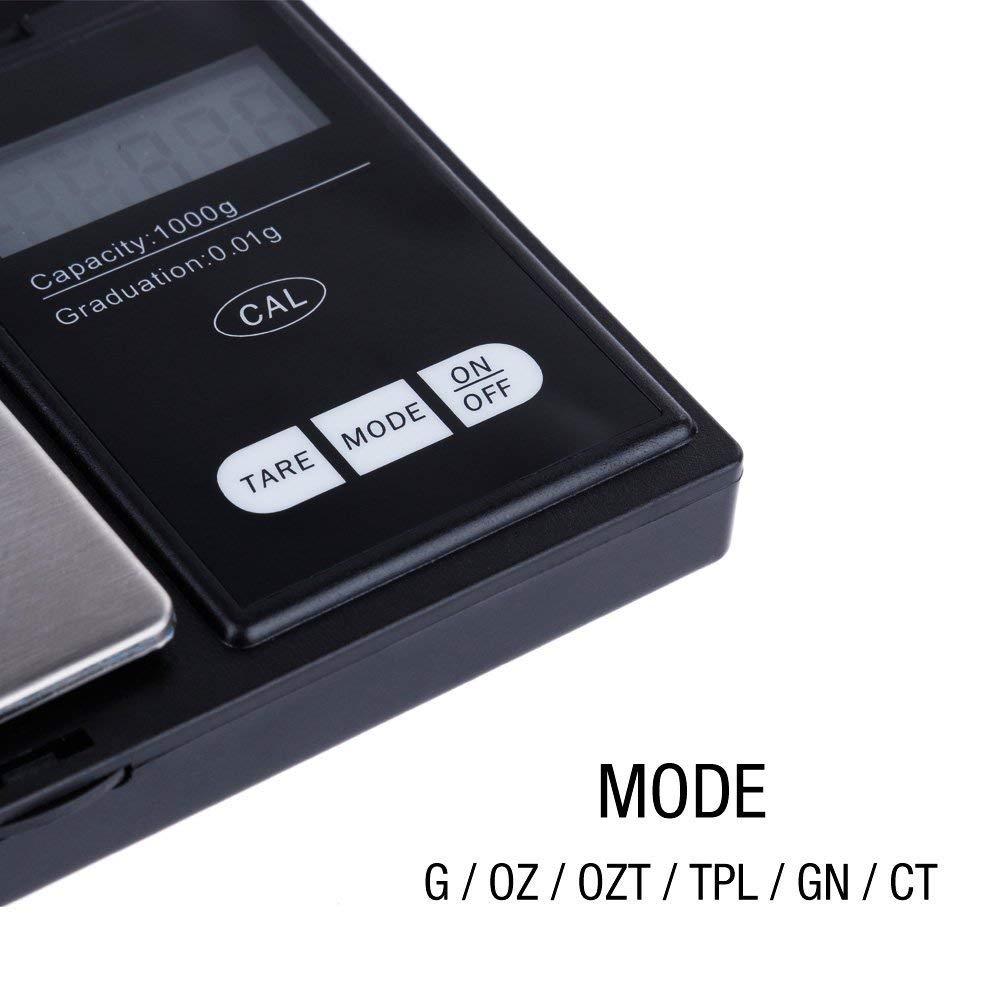 Bilancia da Cucina Gioielli Oro Argento Zacro Mini Bilancia Cucina Digitale Elettronica Professionale 1000g x 0.1g