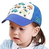 Home Prefer Toddler Boys Baseball Caps UV Sun Protection Hats Airy Mesh Sun Hat Blue XL
