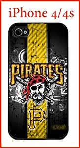 Pittsburgh Pirates iPhone 4 4s Case Hard Silicone Case