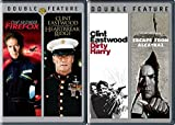 Clint Eastwood Films Dirty Harry & Escape from Alcatraz + Heartbreak Ridge & Firefox 4 Movie Collection pack