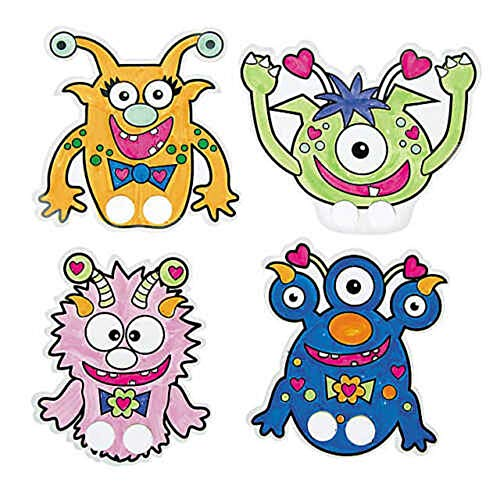 Valentine Monster Finger Puppets, Set of 4 tkcheckoutnow ()