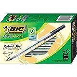 BIC vidrio Xtra Smooth - Bolígrafo de punta redonda (1,0 mm, caja de 24 unidades), color negro, Negro, 50 unidades