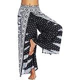 Women Casual Yoga Harem Pants Summer Loose Boho Aladdin Boho Aladdin Trousers Baggy Jumpsuit Black M