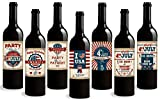 Standard Wine Labels Fourth of July Labels. 7 Unique Wine Bottle Labels Celebrating America's Birthday. Makes the Perfect Gift for any Fourth of July Party!