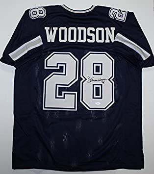 Darren Woodson Autographed Blue Dbl Stitch Pro Style Jersey 8- JSA Witness  Authenticated 5dba231a3