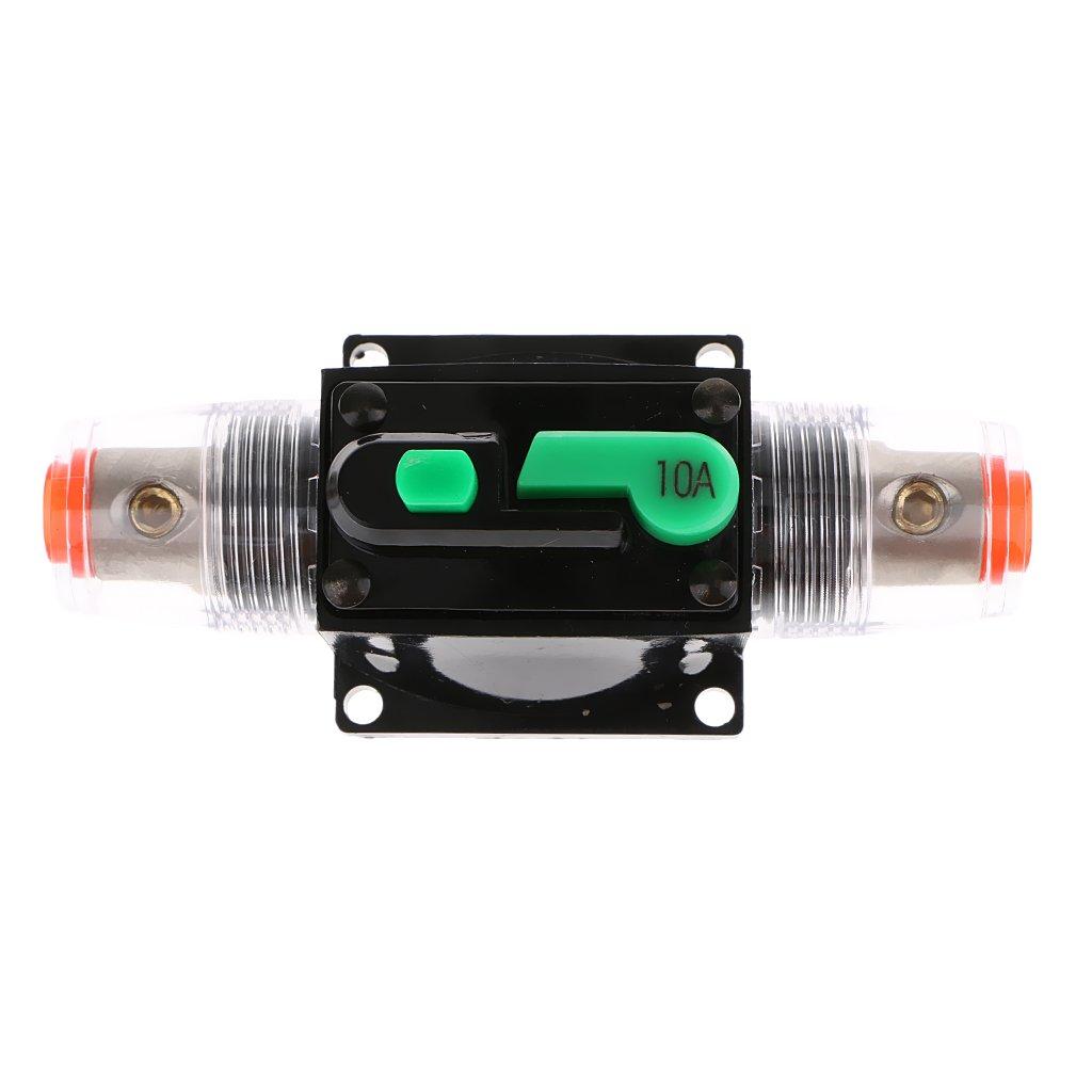 24v P Prettyia 2pcs Car Audio 12v 32v 10a Inline Sicherungsautomat Sicherungshalter Manueller Reset Schalter