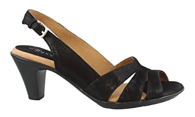 Women's SoftSpots, Neima Slingback Sandal BLACK DOT ...