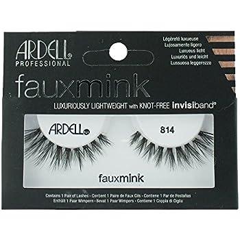 5edd612229d Amazon.com : Ardell Black Faux Mink Strip Lashes 814 : Beauty