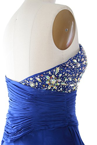 Tiered Dress MACloth Party Formal Short Women Cocktail Dunkelgrun Gown Prom Strapless wrUaxqI0UX