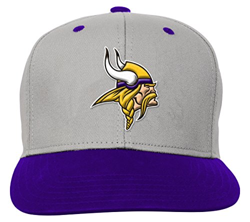 NFL Youth Boys Team Flatbrim Snapback Hat-Regal Purple-1 Size cf022da99