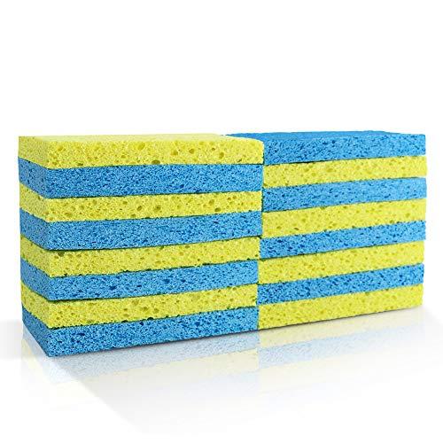 Kitchen Cleaning Sponges 16 PCS Heavy Duty Dish Scrub Sponge for Kitchen,Bathroom & More Masthome