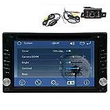 Wireless Backup Camera +GPS Navigation Windows CE 6.0 6.2 Inch Double In Dash Car Stereo Radio Auto Audio Video Automotive CD/DVD/Mp3 Player Bluetooth SD/USB Steering Wheel Control