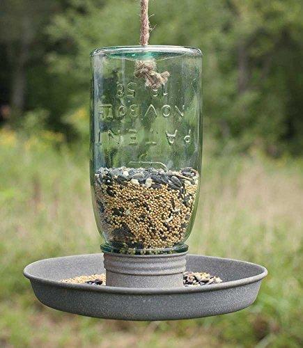 Private Label Cute Garden Decor - Country Style Jar Bird Feeder