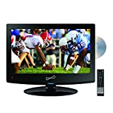 SuperSonic 1080p LED Widescreen HDTV with HDMI Input, AC/DC Compatible for RVs and Built-in DVD Player, 15.6-Inch