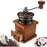 Coffee Mill Grinder - Manual Coffee Grinder with Adjustable Gear Setting and Ceramic Conical Burr,Hand Mill Grinder for…
