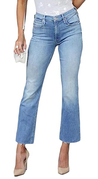 6fe6e9c46c16f8 YYG Women's Stretch Vintage Slim Fit Bell-Bottom Flare Pants Washed Jeans  Denim Pants at Amazon Women's Jeans store