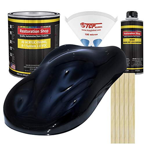 Restoration Shop - Complete Gallon Kit - Dark Midnight Blue Pearl Acrylic Enamel Single Stage Car Auto Paint