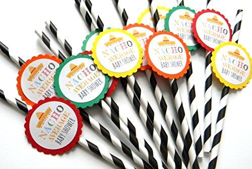 Nacho Average Baby Shower Party Straws - Set of 12 ()