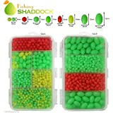 Easy Catch ® 1000pcs/box Hard Plastic Oval Shaped Fishing Beads Fish Round Beads Fishing Lures Biats Beads Fishing Tackle Tools Eggs for Saltwater Fishing