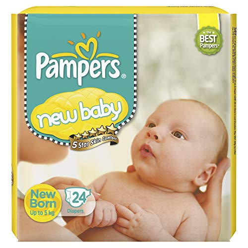Pampers Active Baby Tape Diapers New Born Baby XS Size 24 Pieces