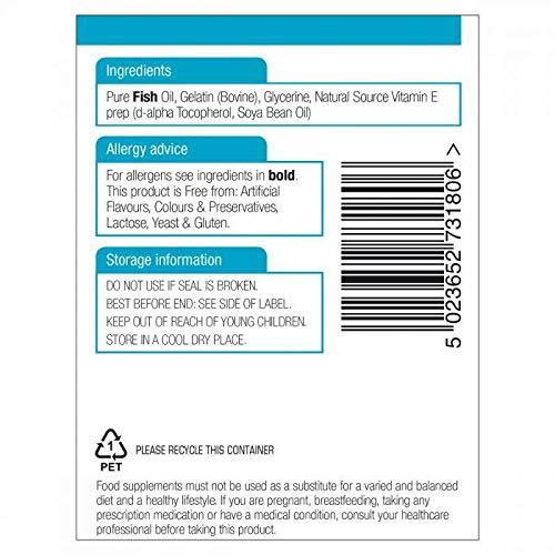 Natures Aid Fish Oil 1000mg (Omega-3) 180 Softgels - 6 Pack