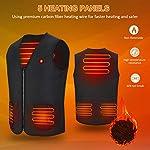 Gilet Chauffant Homme et Femmes Chargement USB Hiver Vêtement Chauffant Lavable Chauds Gilet Chauffé pour Activités de… 10