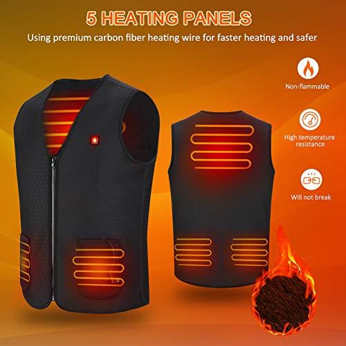 Gilet Chauffant Homme et Femmes Chargement USB Hiver Vêtement Chauffant Lavable Chauds Gilet Chauffé pour Activités de… 5