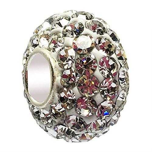 (JMQJewelry 925 Sterling Silver Crystal Charms Beads Bracelets)