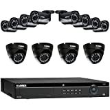 Lorex 16 Channel 4K 4MP 12 Camera Security System 4K NR9163 3TB HDD 8 4MP LNB4421B Bullet Cameras 4 4MP LNE4422B Dome Cameras with Color Night Vision