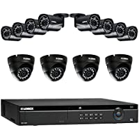 Lorex 16 Channel 4K 4MP 12 Camera Security System 4K NR9163 3TB HDD 8 4MP LNB4321B Bullet Cameras 4 4MP LNE4322B Dome Cameras with Color Night Vision