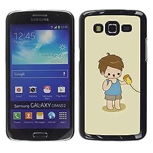 LECELL--Funda protectora / Cubierta / Piel For Samsung Galaxy Grand 2 SM-G7102 SM-G7105 -- Kid Playing Cute Kid Baby Mother --
