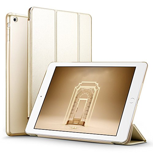 ESR iPad Mini Smart Case Cover [Synthetic Leather] Translucent Frosted Back Magnetic Cover with Sleep/Wake Function [Light Weight] for iPad Mini 1/2/3 (Champagne Gold)