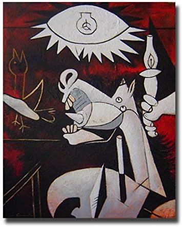 Cuadros Famosos interpretación pintada a mano Caballo del Guernica– Pintores famosos Picasso, medidas 115x89cm