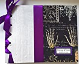 Halloween Wedding Guestbook, Gothic Wedding Guestbook, Fall Wedding Guest Book, Halloween Party Book, (Custom Colors Available)