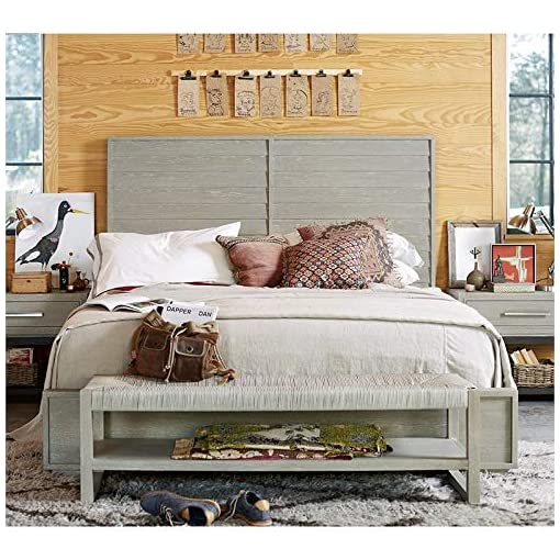 Bedroom Universal Furniture Zephyr Queen Panel Bed in Gray farmhouse beds and bed frames