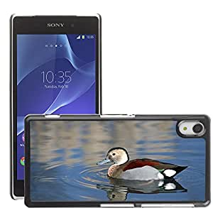 Super Stella Slim PC Hard Case Cover Skin Armor Shell Protection // M00107813 Ringed Teal Duck Bird Animal // Sony Xepria Z2 L50W