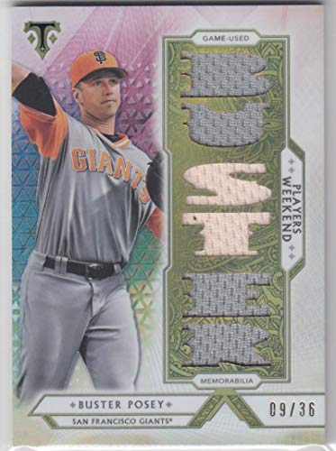 2018 Topps Triple Threads #PW-BP Buster Posey #PW-BP NM Near Mint MEM 9/36 from Triple Threads