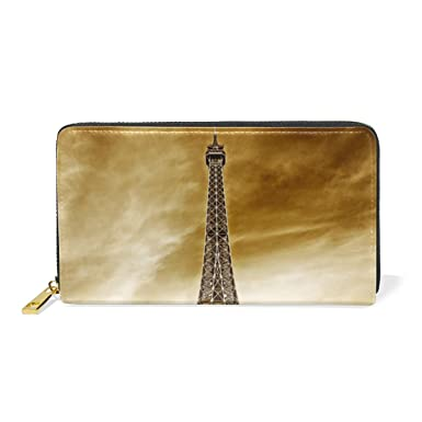 XiangHeFu Monedero Mujer Monedero Paris Eiffel Tower Clutch ...