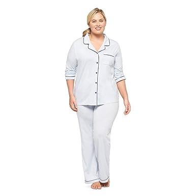 Gilligan   O Malley Women s Plus Size Pajama Coatset Ballad Blue at ... f89128914