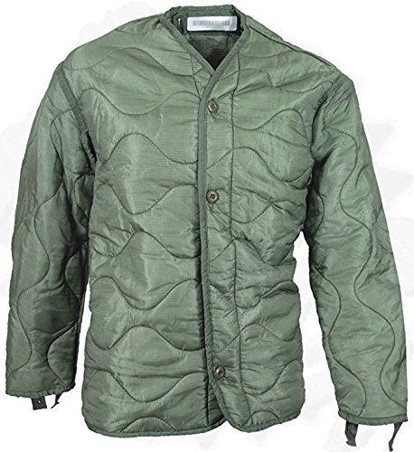 - US Army Military M-65 Field Jacket Quilted OD Olive Drab Green GI Coat Liner GI (Small)