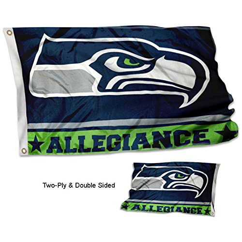 WinCraft Seattle Seahawks Double Sided Allegiance Flag