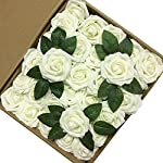 Jing-Rise-Artificial-Flowers-Real-Looking-Fake-Roses-with-Stem-for-DIY-Wedding-Bouquets-Centerpieces-Party-Baby-Shower-Home-Decorations-Ivory-30pcs-Standard