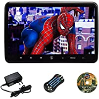 10.1 Inch Portable Car Headrest Dvd Player ,and Super-Thin Design with AC Power Adapter Wall Charger and USB and SD and HDMI and Wireless Games