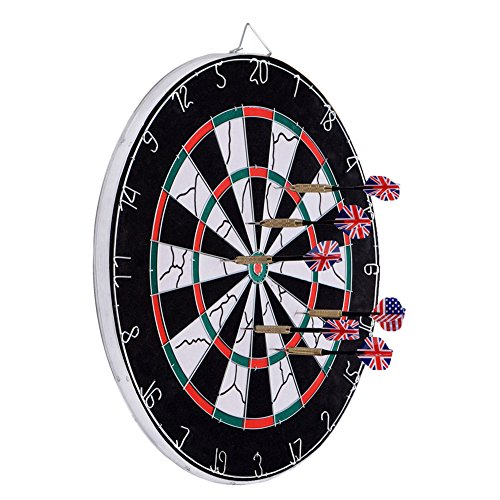 Dartboard, Loveiscool Double-sided Dart Board with 6 Brass Darts – DiZiSports Store