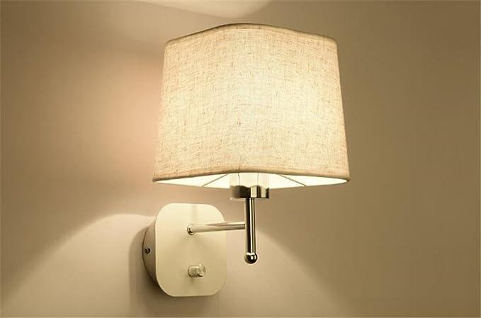 E27 moderna creativo tessuto paralume lampada da parete in ferro con