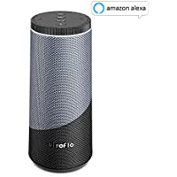 Smart Speaker, Portable Wireless Speakers with Voice Control System Built-In, Wifi Bluetooth Speakers with Enhanced Bass, Water Scratch Resistance - Black/Blue