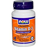 Cheap Vitamin D-3 1,000 IU 180 Chewable Tablets (Pack of 2)