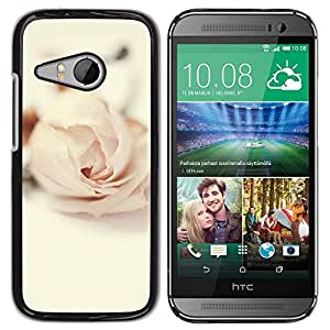 Paccase / SLIM PC / Aliminium Casa Carcasa Funda Case Cover para - Rose Vignette Pink Love Flower Petal - HTC ONE MINI 2 / M8 MINI