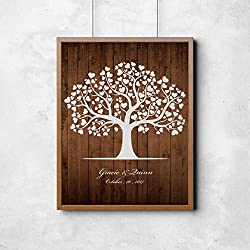 Homokea DIY wedding guest book for Couple, Personalized Engagement Present Anniversary Gift Guest Signing Instruction Frame