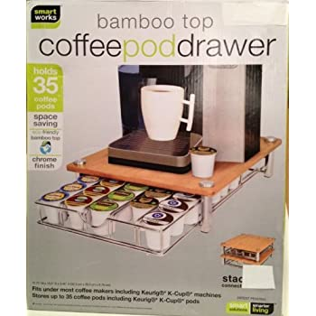 Bamboo Coffee Pod Drawer For Keurig K Cups